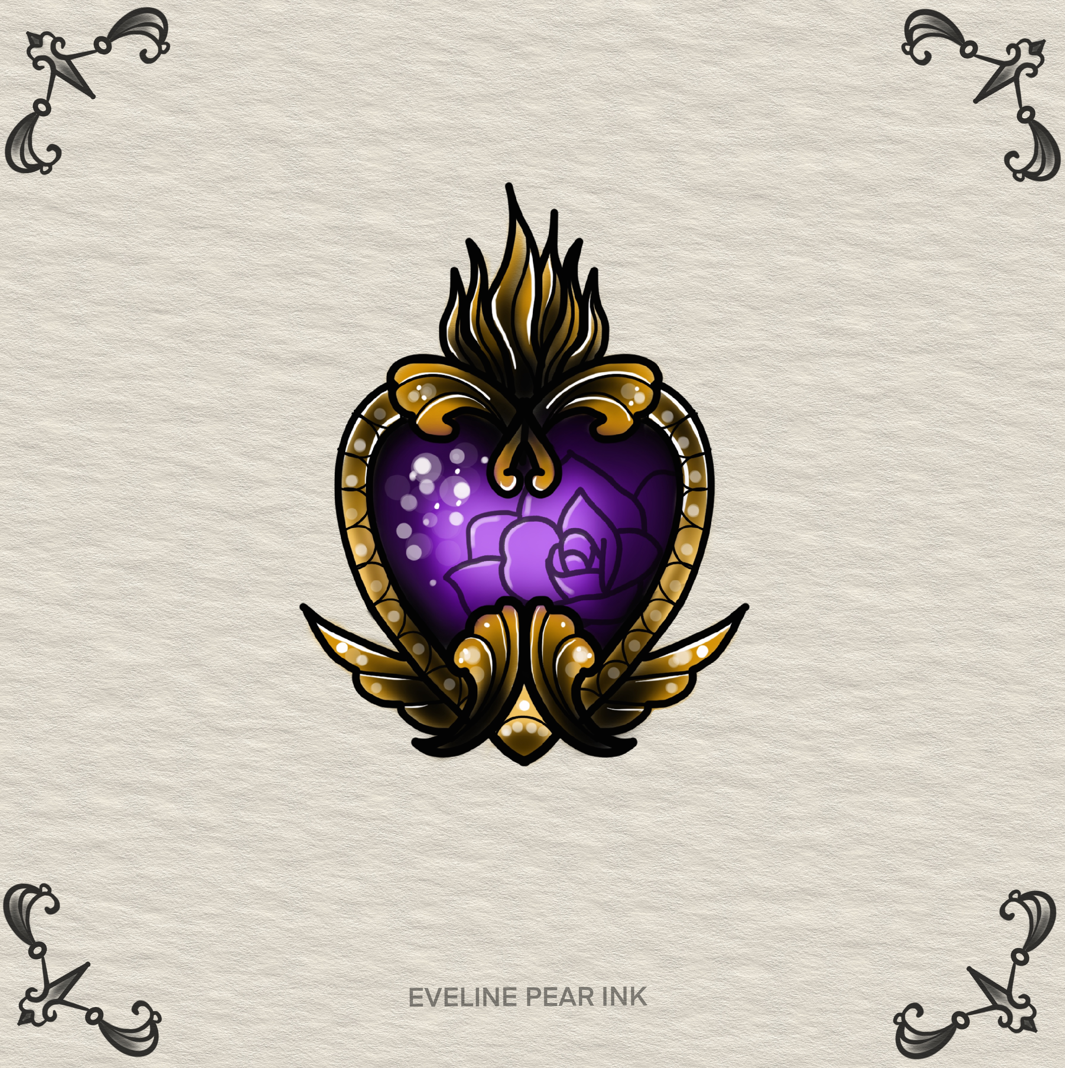 Eveline Pear Ink inksearch tattoo